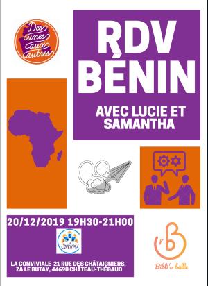 Retour du Bénin avec Lucie et Samantha