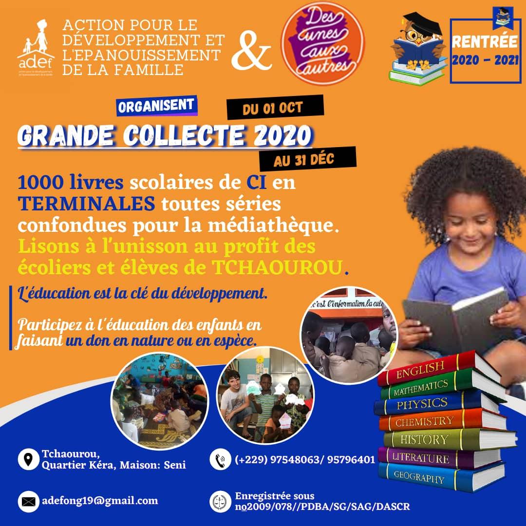 Grande collecte de livres à Tchaourou